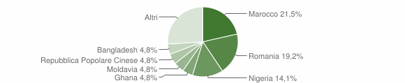 Grafico cittadinanza stranieri - Cona 2019