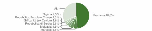 Grafico cittadinanza stranieri - San Pietro in Cariano 2019