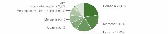 Grafico cittadinanza stranieri - Vescovana 2015