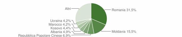 Grafico cittadinanza stranieri - Marcon 2019