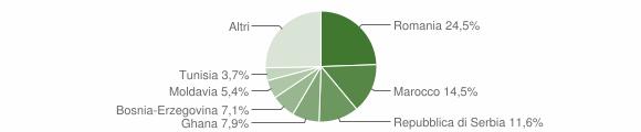 Grafico cittadinanza stranieri - Sarcedo 2018