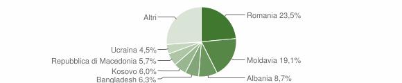 Grafico cittadinanza stranieri - Spinea 2019