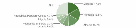 Grafico cittadinanza stranieri - Torre di Mosto 2019