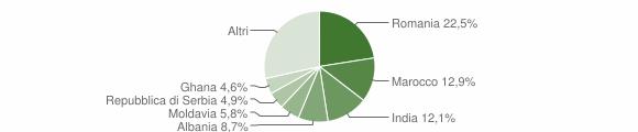 Grafico cittadinanza stranieri - San Bonifacio 2018