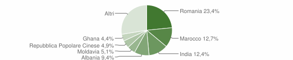 Grafico cittadinanza stranieri - San Bonifacio 2019
