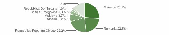 Grafico cittadinanza stranieri - Badia Polesine 2018