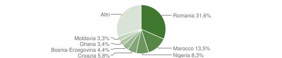 Grafico cittadinanza stranieri - Grezzana 2019