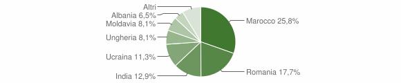 Grafico cittadinanza stranieri - Villa Estense 2016