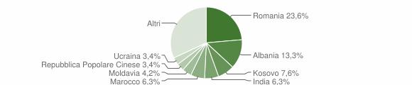 Grafico cittadinanza stranieri - Breda di Piave 2019