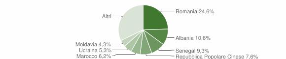 Grafico cittadinanza stranieri - Musile di Piave 2019